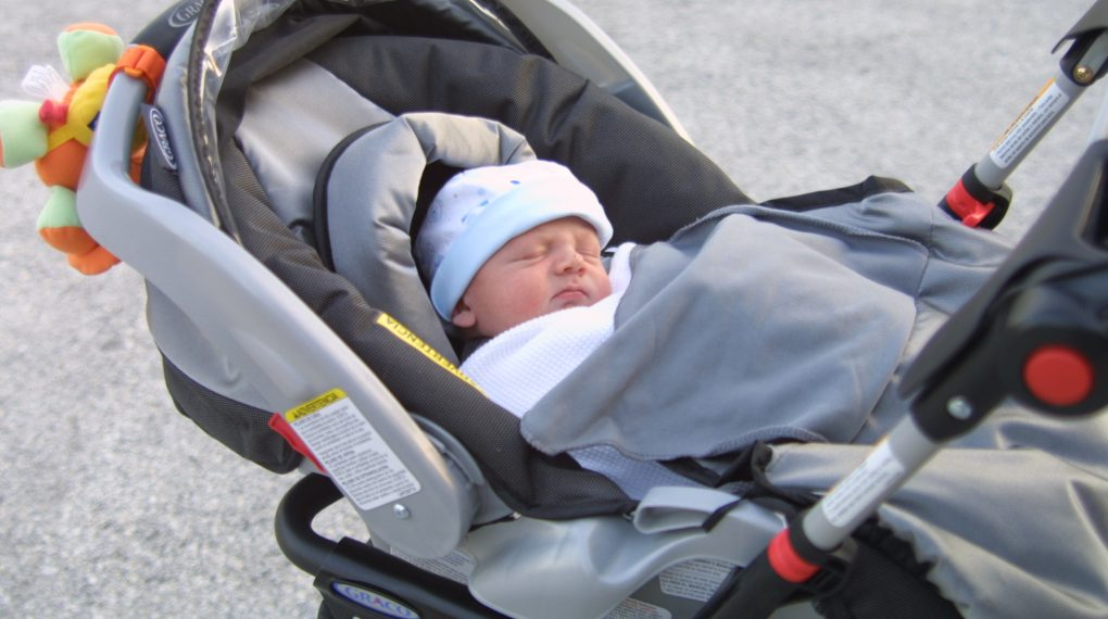 A Stroller And Car Seat